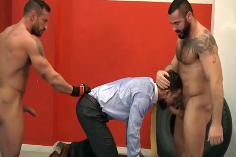 stunning BOXERS get yummy WITH THEIR BOSS