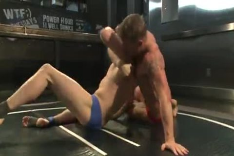 Two young fellows Wrestle In The stripped previous to nail