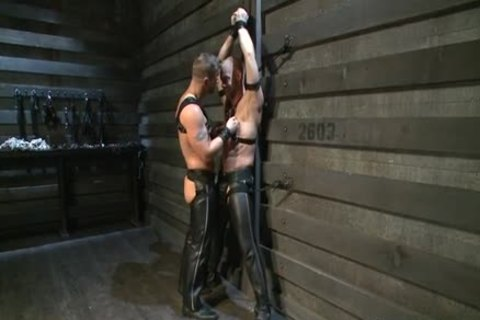 Hung White man In Leather acquires Off homo chap