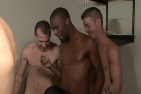 Interracial homosexual Bukkake With A Sticky Ending