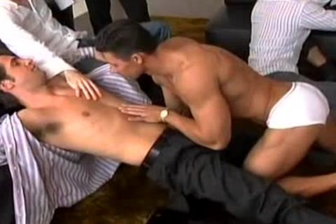 A Striptease That Leads To A massive gay fuckfest!