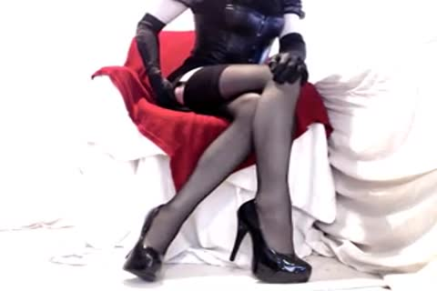 lovely Seamed nylons And Heels