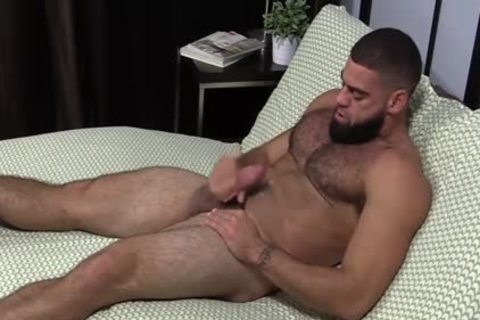 pumped up Ricky Larkin jerking off Off whilst Toes Are Sucked