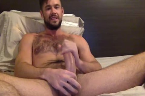 Porn Star Mike De Marko Strokes His large humongous knob
