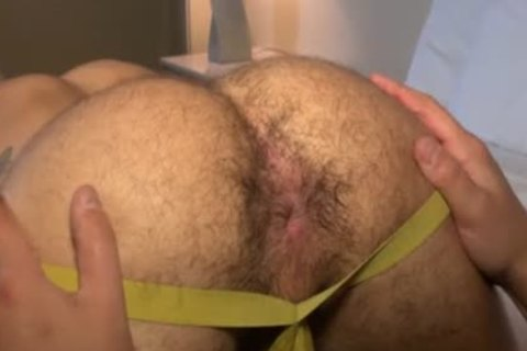 Muscle Bear bareback With sperm drinking