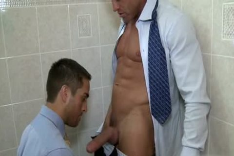 gigantic 10-Pounder homosexual blowjob sex With cumshot