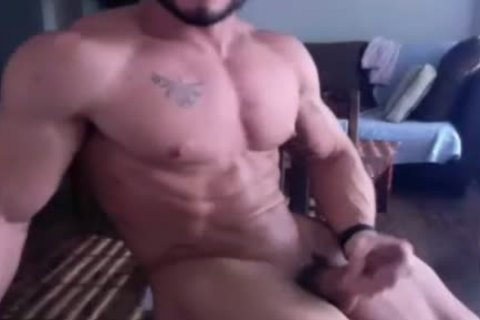 Muscle boy acquires naked And Wanks On webcam