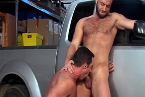 Eddy CeeTee And Nick Capra bunch-sex In The Garage