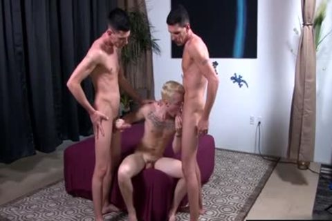 large ramrod homo threesome And cumshot