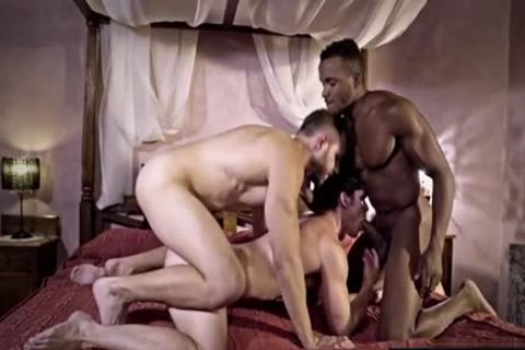 gigantic wang homosexual threesome And cumshot