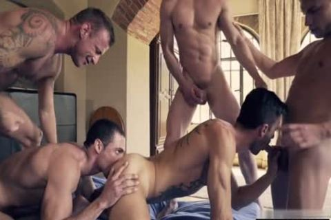 tasty homo double penetration With ejaculation