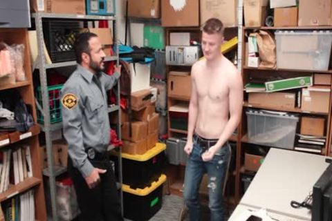 Tall blond Straight lad Barebacked By older horny Security