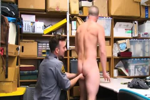 Shoplifting stud Takes weenie Up His booty And Down His face hole