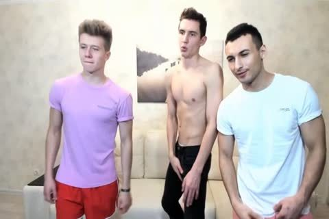 3 Russian handsome boyz With Great Round poopers,wonderful ramrods On web camera