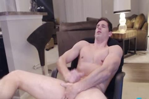 Flirt4Free Model Adonis Summoning - Hunky Ripped Straight dude Fingers His ass