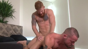 Tattooed And hammered - Bennett Anthony and Sean Duran ass screw