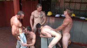 Daddy's Workplace - Brad Kalvo and Tom Faulk butthole sex