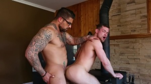 Size Queen - Ryan bones with Kurtis Wolfe butthole invasion