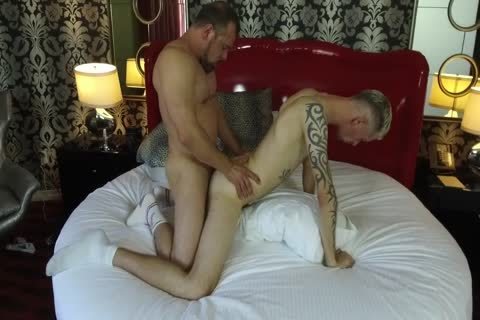 Robert Rexton gets banged By Muscle Daddies Max Sargent & Chance Caldwell