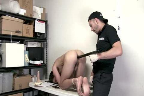 tied twink Shoplifter Barefucked By Guard