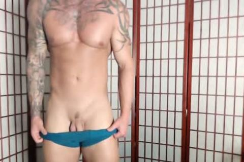 Jason Stromm On Flirt4Free - Tatted Muscle chap Wanks His nice-looking knob