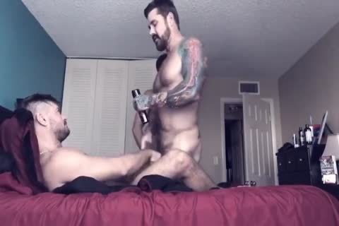 College homosexual Roommate likes bare butthole banging