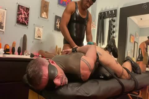 Ryan Spade & angel Russo - fastened In Latex