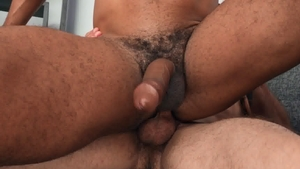 Sean Cody: Piercing Jay bareback gagging in the bed