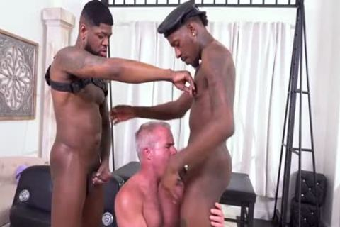 Daddy And  two black penis´s