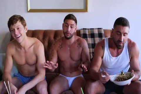 Three Muscled males Having pound pleasure