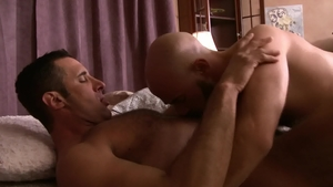 Icon Male: Damon Andros escorted by hairy Nick Capra ass fuck