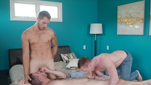 NextDoorOriginals: Gay Carter Woods bareback kissing