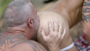 IconMale.com - Lance Charger licking ass outdoors