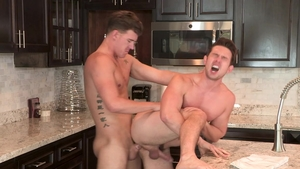 Falcon Studios - Casey Jacks accompanied by tattooed JJ Knight