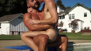 FalconStudios - Brad Payton in speedos with Arad Winwin