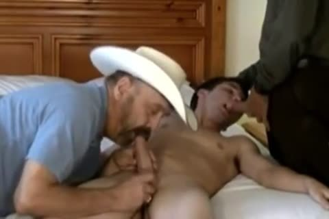 Daddy Bear Cowboy And Silver Daddies hammer young lad