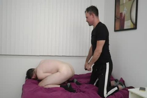 excited lad Rides Step Uncles Hard penis