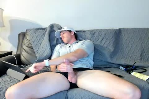 dirty Married Daddy Jerks Off On web camera