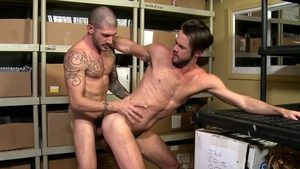 Pride Studios: Bald Johnny Hazzard throat fuck sex tape